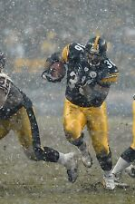 JEROME BETTIS 8X10 PHOTO PITTSBURGH STEELERS PICTURE NFL FOOTBALL IN THE SNOW