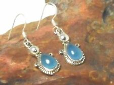 CHALCEDONY    Sterling  Silver  925   Gemstone  EARRINGS   -  Gift Boxed!