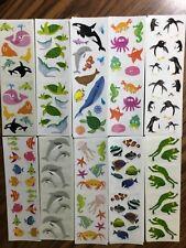 50 Rare Strips Ocean Sea Fish Dolphin Turtle Penguin Frog Mrs Grossman's Sticker