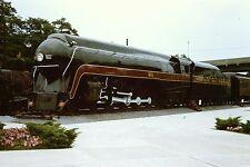 NORFOLK & WESTERN #611 J Class 4-8-4 Locomotive Train Railroad 35mm orig slide