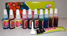 3 Pack: 10x10ml Glass Paints & 1 Outliner tube Glass Painting Kit DIY