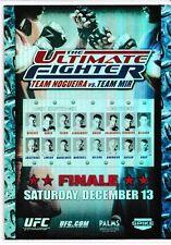 TUF 8 Efrain Escudero vs. Phillipe Nover 2010 Topps UFC Main Event Fight Poster