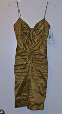 Nicole Miller Metallic Cocktail Dress – size 2 NWT