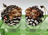 Christmas Pine Cone With Various Forest Animals Christmas Tree Ornament