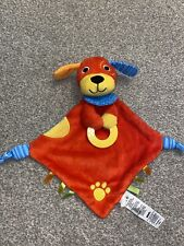 BRUIN-Red Puppy Dog Baby Comforter Blanket -Rattle / Teether by Toys R Us