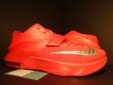 2014 Nike KEVIN DURANT KD VII 7 GLOBAL GAME ACTION RED SILVER GREY 653996-660 11