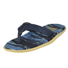 290824c0119 Island Slipper Camouflage Ripstop Navy Camo Mens Thong Size 9M