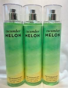 3 CUCUMBER MELON Fine Fragrance Mist Bath & Body Works 8 fl oz