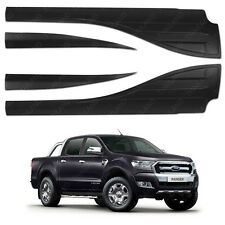 Side Door Window Cladding Trim Matte Black For Ford Ranger T6 Mk2 2015 - 2017