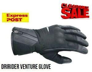 CLEARANCE! Dririder Venture winter waterproof motorcycle gloves NEW Mens XS Blk