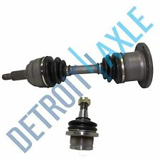 2 pc Set - Front Driver or Passenger Side CV Axle Shaft + Ball Joint - 4WD