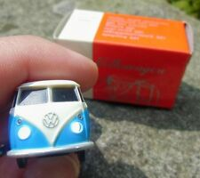 Official VW Classic Volkswagen Bus Samba T1 Bulli KEYCHAIN Blue/Cream LED lamps