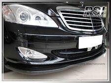 CS Style Carbon Fiber Front Bumper Add-On Lip for W221 S550 Pre-Facelift 07-09