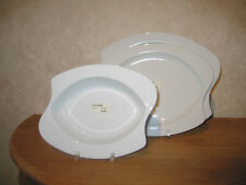 SELTMANN *NEW* WEISS BLANC Set 3 assiettes Set 3 plates WHITE OVALE OVAL