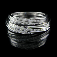 1/7 Ct D/VVS1 Diamond His And Hers Wedding Band Set 10K White Gold