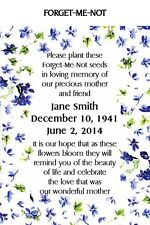 Memorial Funeral Remembrance Keepsake Seed Packets Forget Me Not Set of 300
