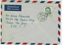 czechoslovakia 1949 airmail stamps cover ref 19648