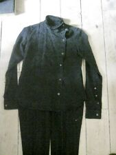 BURBERRY Stylish Black Cotton Trouser Suit w Lovely Details FAB! UK8