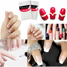 5 Packs 3 Style French Manicure Form Nail Art Tape Tips DIY Stickers Guide Decal