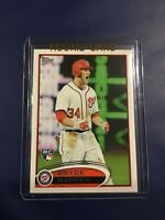 2012 Topps # 661 BRYCE HARPER ROOKIE RC Screaming Washington Nationals SP MINT
