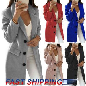 Womens Teddy Bear Long Coats Ladies Winter Warm Faux Fur Fleece Jacket Outwear