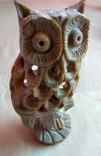 New Handmade Handcarved Decorative Showpeace Owl With Soft Stone From Kashi