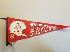 New England Patriots Pennant circa 1970 (with NFL registration logo 1967)