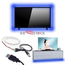 Kit Eclairage ruban led usb 100CM bleu ecran bar lit meuble ordinateur 5 Volt