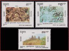 CAMBODGE N°924/925** Culture KHMERE, 1990 CAMBODIA 1046-1048 MNH Kambodscha