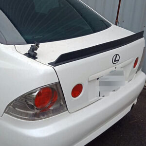 Unpainted PUF Fit For LEXUS IS200 IS300 4DR Sedan Rear Trunk Lip Spoiler 2001