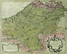 BELGIEN - FLANDERN - County of Flanders - Delisle - kolorierte Karte 1721