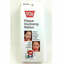 Poh Plaque Disclosing Tablet Wafers For Kids - 40 pcs - Plaque Remover For Kids