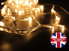 300 LED 32M Warm White String Fairy Lights On Clear Cable 8 Modes decoration