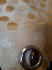 Gold Omega Corn Circle Pattern French Door Curtain With Matching Roman Blind