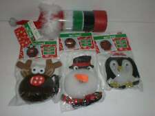 SCUNCI Christmas Holiday Red & Green Create Your Own Hair Bun + Ties 4 Packages