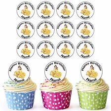DISNEY Principessa Belle 24 Personalizzati Pre-Tagliati Commestibili Cupcake Topper Festa Ragazze