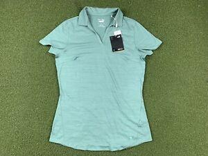 PUMA Cloudspun Free Short-Sleeve Golf Polo Blue Spruce WMNS SZ S ( 597695 15 )