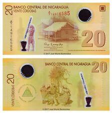 Nicaragua 20 Cordobas 2007 (2009) Polymer P-202a 1st Prefix 'A/1' Banknotes UNC