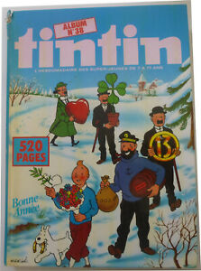 Album recueil journal hebdomadaire TINTIN n°38 Aria - 4ème trimestre 1982