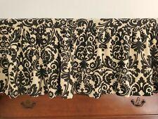 Eastern Accents Queen Black & Cream Floral Linen Split Corner Bedskirt 15.5 in