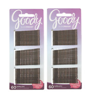 2 Pack - Goody SlideProof Bobby Pins, Brown, 2 Inches, 120 Bobby Pins