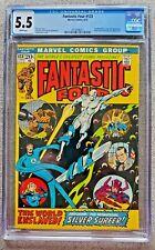 Fantastic Four #123 5.5 FN- Jun 1972 20 cent Bronze Age President Nixon cover