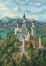 WALL JACQUARD WOVEN TAPESTRY Neuschwanstein Castle, Germany MEDIEVAL PICTURE