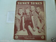 1949 NO 65 TUNEY TUNES MUSIC THE PIED PIPERS COVER,SINATRA,DAY,STORDAHL,JAZZ PAR
