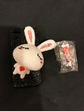 NEW iPhone 4/4S XXL Bunny Rabbit 3D Hard Cover Rhinestones / Pearl Case Black