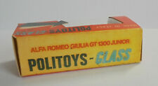 Repro Box Politoys -Glass Alfa Romeo Giulia GT 1300 Junior