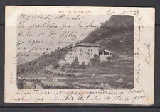 POSTAL DE SANT HILARI DE SACALM CIRCULADA EN EL AÑO 1906 (CASTELL DE SALETA)