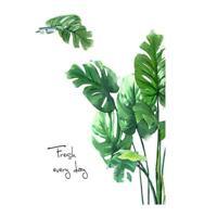 Tropical Plant Leaves Wall Sticker Decal Nursery Living Room Hot Decor Sale F3U3