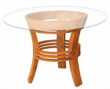 Waxed Teak Half Moon Dining Table made by Chic Teak