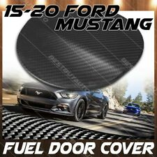 For 15-20 Ford Mustang Real Matte Carbon Fiber Gas Fuel Door Cover Overlay Trim